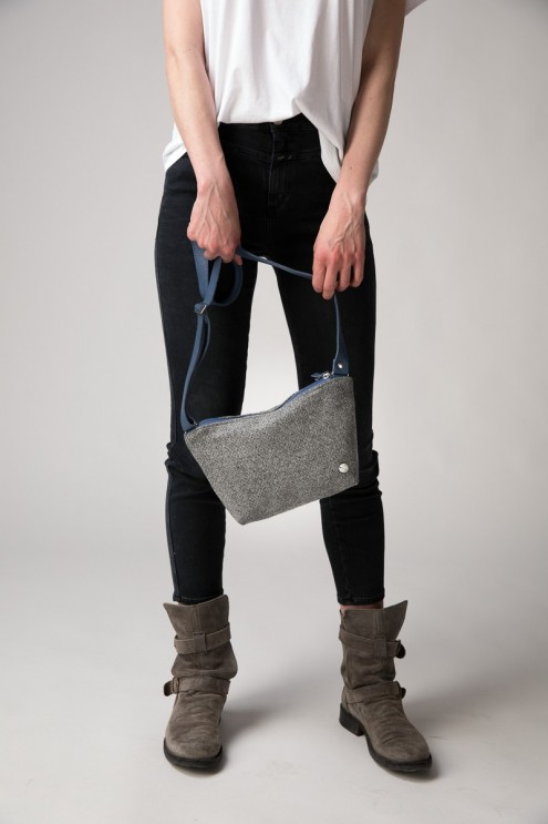Umhängetasche für Damen und Kinder, leichte Tasche aus Stoff, Loden aus Österreich, kleine Stofftasche nachhaltig