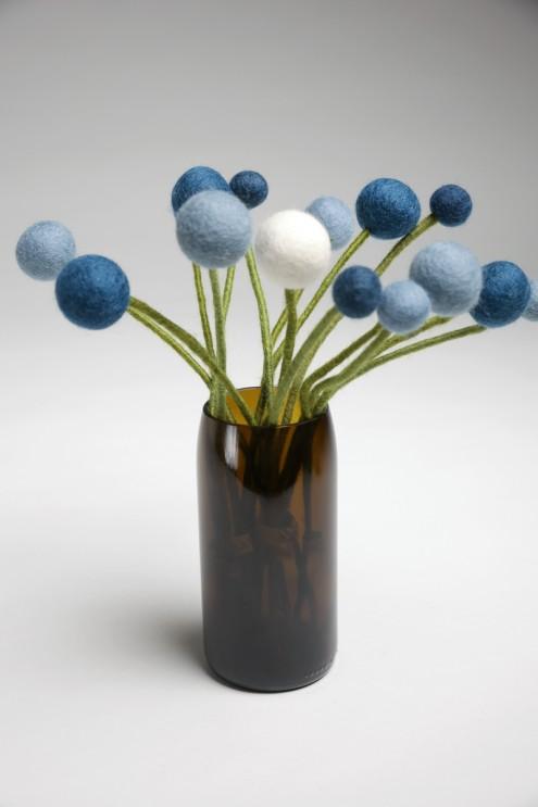 Upcycling Vase, Longdrink Gläser, aus Weinflaschen, nachhaltig, Handarbeit, fair produziert