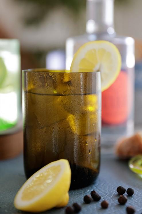 Upcycling Gläser, Trinkgläser, Wasserglas, Gin Tonic Glas, aus Weinflaschen, nachhaltig