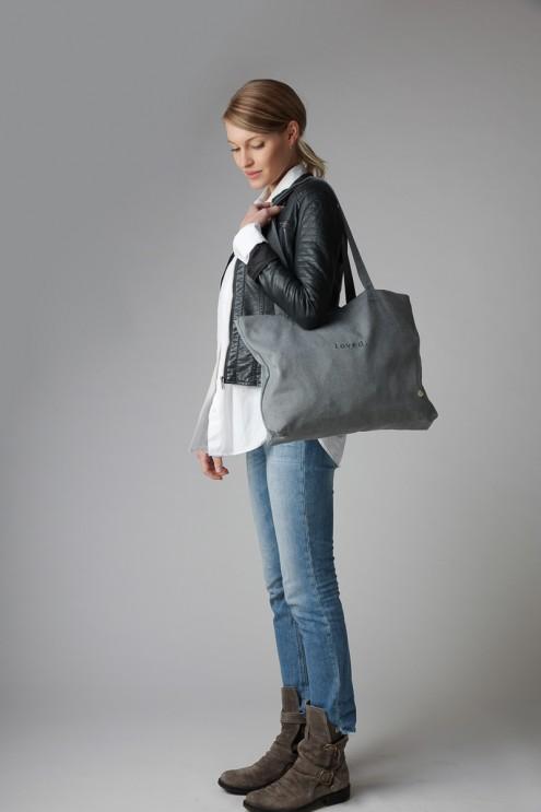 Canvas Tasche, großer Shopper aus Stoff, leichte Schultertasche für Damen, Stofftasche nachhaltig, aus Österreich