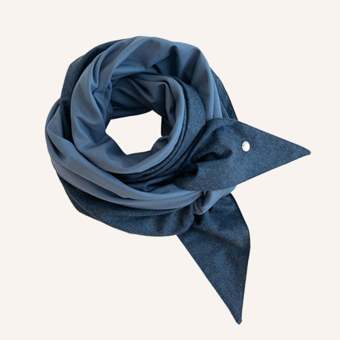 Schultertuch aus Merinowolle, Dreieckstuch für Damen, Schal aus Wolle, Leichtes Tuch zum Binden